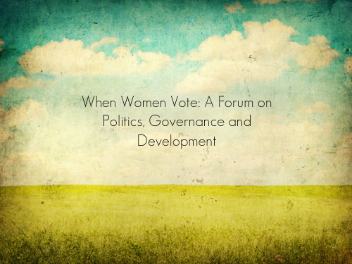 April 30 Anniversary of  the Women's Vote